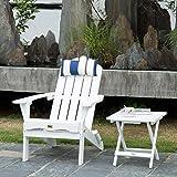 DJL White Wood Folding Adirondack Chair