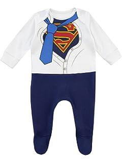 Geschenke f/ür Neugeborenen Baby Schlafanz/üge Baumwolle Baby Body mit Langarm und F/üssen Pyjama Strampler M/ädchen Superhelden Baby Kost/üm DC Comics Wonder Woman Strampler M/ädchen