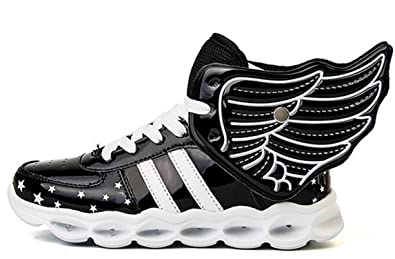 YOGLY Niños Zapatillas con Luces LED, Súper Lindo Alas de Las Niñas Zapatos de Luces