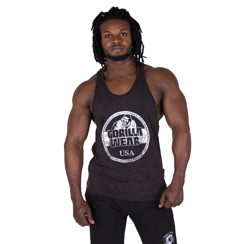 Gorilla Wear Mill Valley D/ébardeur Bodybuilding /& Fitness V/êtements Hommes