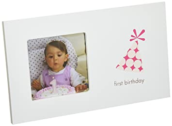 pearhead first birthday frame girl