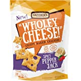 Snyder's of Hanover Wholey Cheese! Gluten Free Baked Crackers, Spicy Pepper Jack, 5 Ounce
