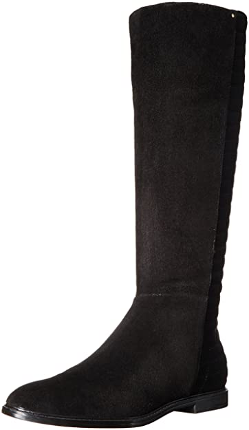 Calvin Klein Women's Donnily Riding Boot, Black Suede, ...