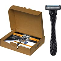 BIC Flex 3 Hybrid Men's 3-Blade Disposable Razor, 1 Handle and 12 Cartridges