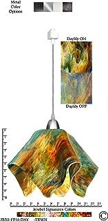 product image for Jezebel Signature JRNI-FP16-DAY-TRNI Nickel Flame Track Light, Large, Daylily
