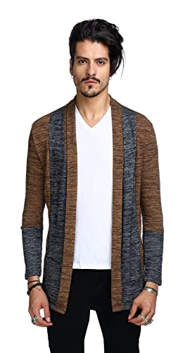Whatlees Unisex Hip Hop Urban Basic Longline Cardigan With Contrasting Inset by Amazon