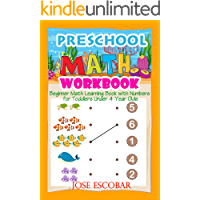 Preschool Math Workbook Beginner Math Learning Book with Numbers for Toddlers Under 4 Year Olds