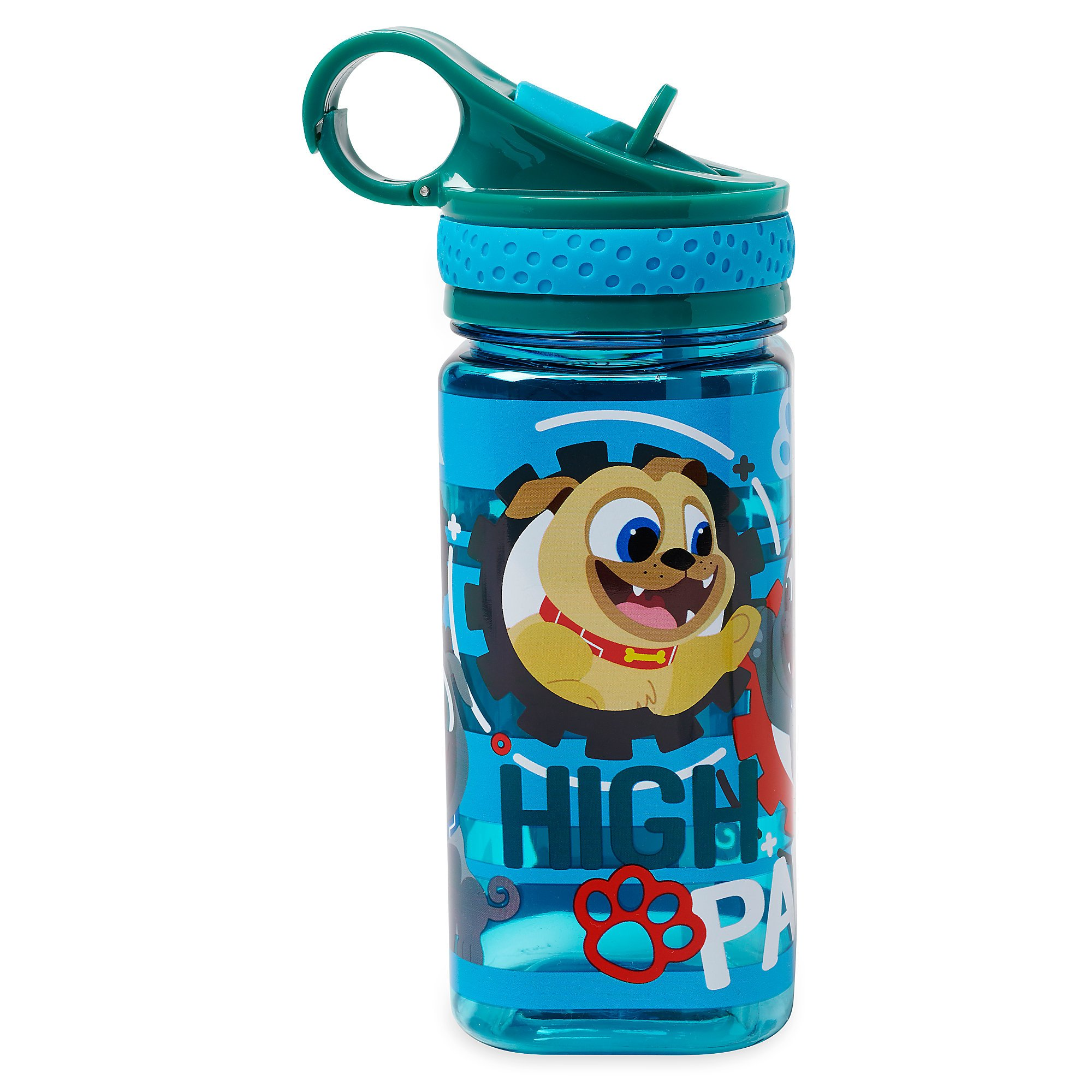Disney Puppy Dog Pals Water Bottle with Built-In Straw by Disney