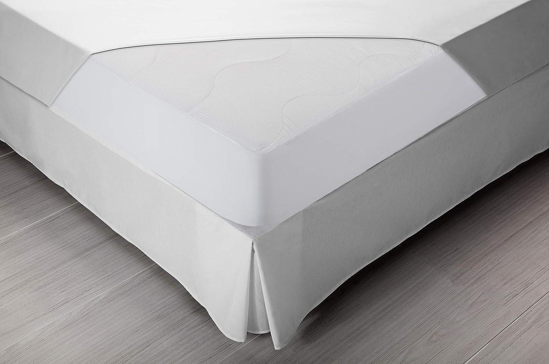 Pikolin Home - Protector de colchón acolchado cubre colchón, termorregulador, transpirable, 90 x 190/200 cm, cama 90 (Todas las medidas): Amazon.es: Hogar