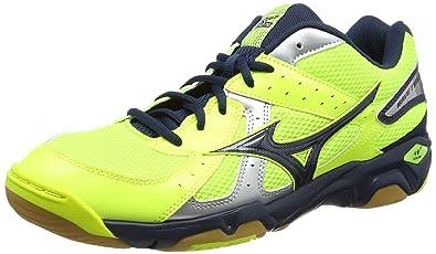 Mizuno Wave Twister 4, Chaussures de Volleyball homme Jaune (Neon YellowDress