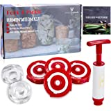 Fork&Pickle Mason Jars lids Fermentation lid Kit - 4 lids, 2 Glass Weights, 1 Air Extractor, User Guide & Recipe Book - Ferme