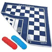 gosports cf-mat-01 gigante 4 en una fila & Checkers Game Mat–Doble Cara