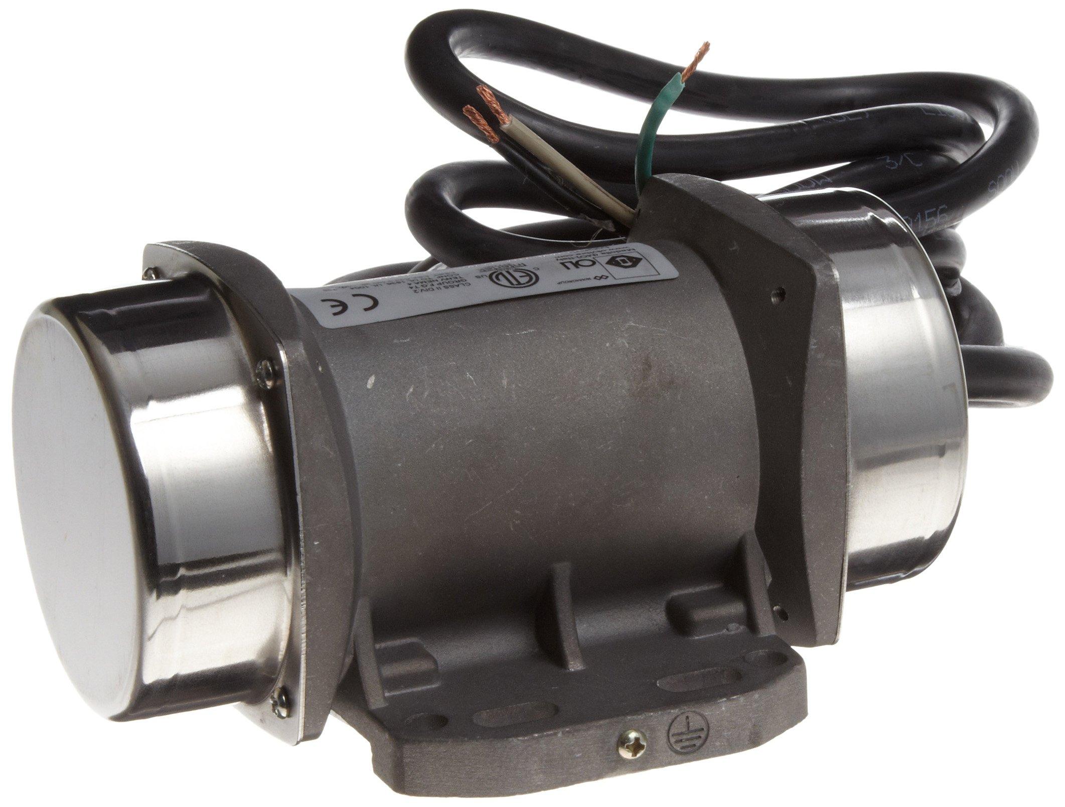 OLI Vibrator MVE.0006.36.115 Electric Vibrator Motor, Single Phase, 2 Poles, 3,600 RPM, 60 Hz, 115 Volt, 19.84 Lb Output Force