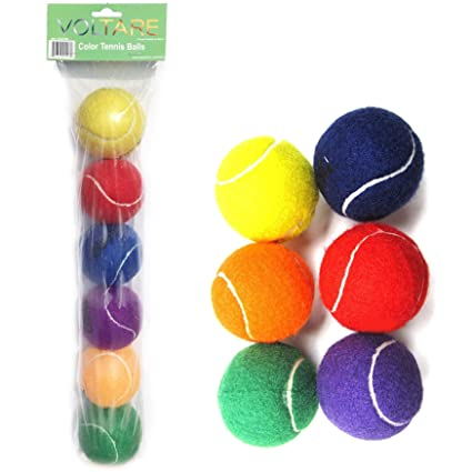 Amazon Com Voltare Color Tennis Ball Set Green Orange Yellow
