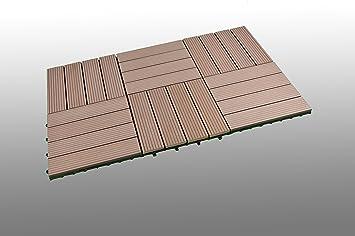 SORARA WPC Terrassen Fliesen | 30 X 30 Cm | 6 Teile/Stück Im Set