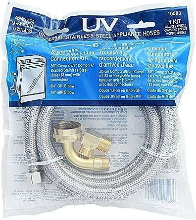 Amazon.com: Kit de conexión de línea de suministro de agua ...