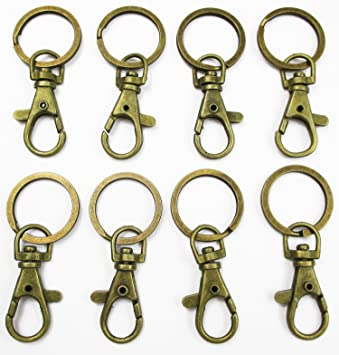 10pcs heart shape swivel clasp swivel hook purse clasp keychain Key fob hardware