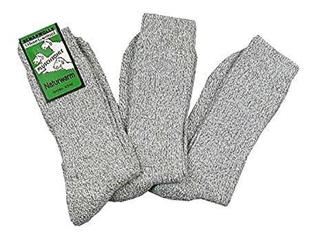 Wowerat - Calcetines (3 pares, sin goma, de lana y suela de felpa