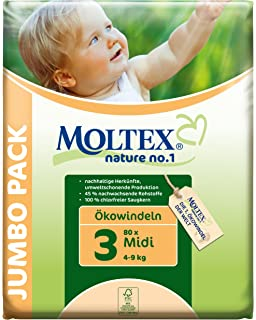 Moltex - Nature - Pañales ecológicos - Talla 3 (4 - 9 kg) -