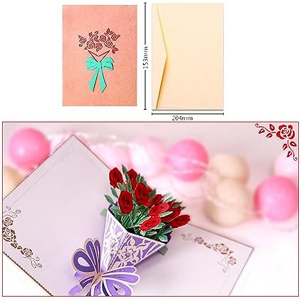 Amazon Com Dreamen Valentines Pop Up Cards Cards Craft 3d Greeting