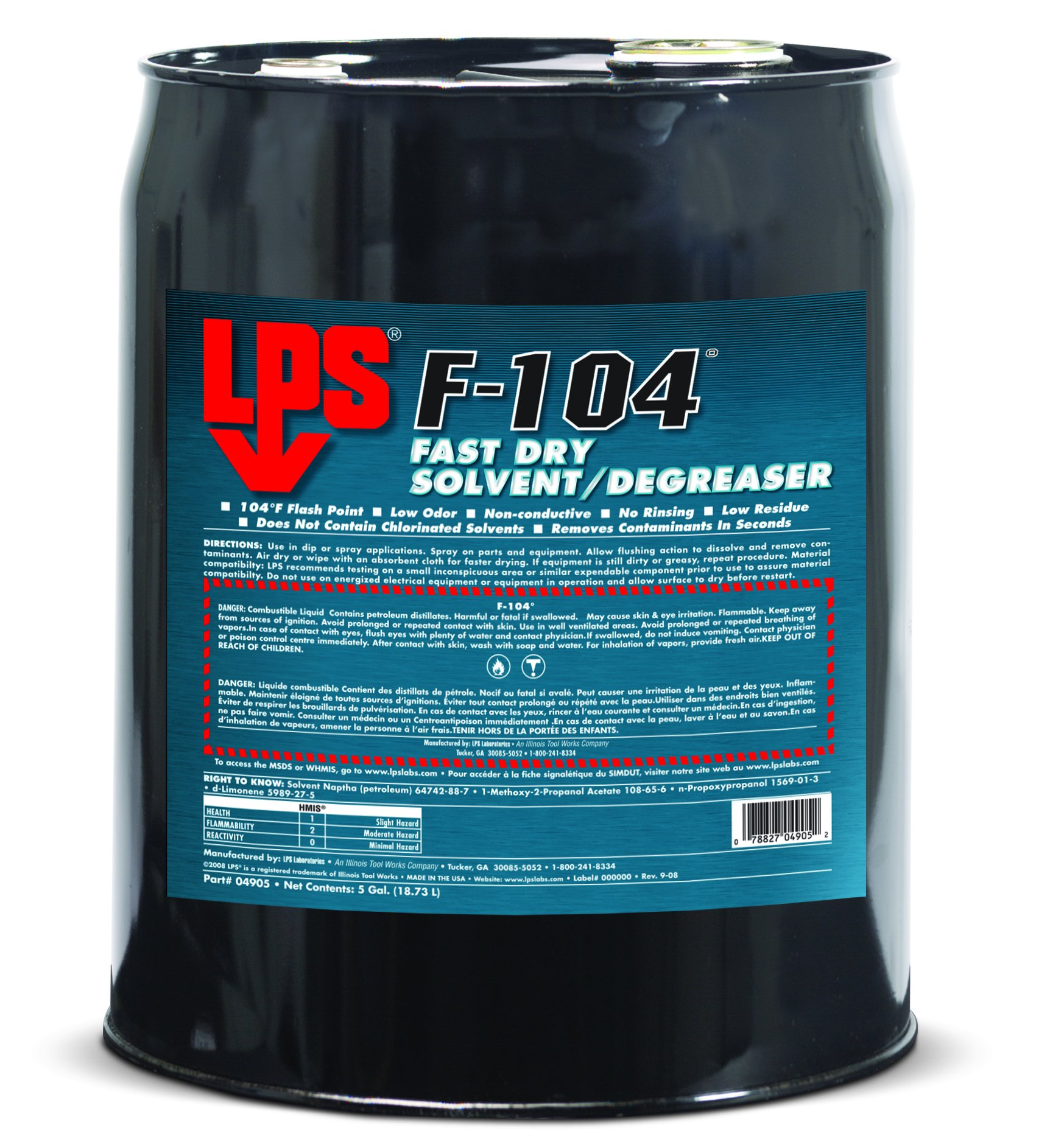 LPS 04905 F-104 Solvent Degreaser, Colorless by LPS