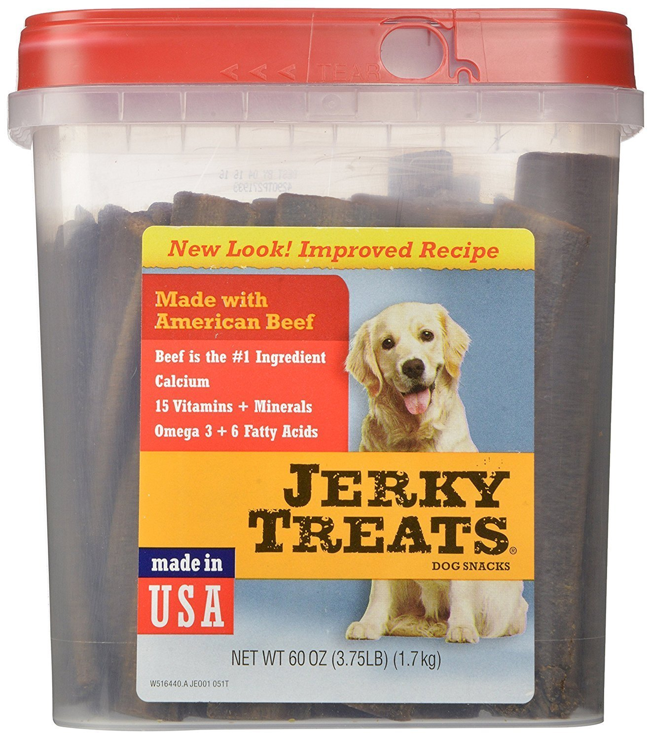 Jerky Treats Tender RRxtx Beef Strips Dog Snacks, 60 Oz 2 Pack