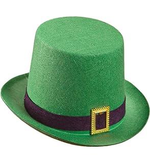 Cappello irlandese in feltro bombetta St Patrick con trifoglio ... 50df0d639c69
