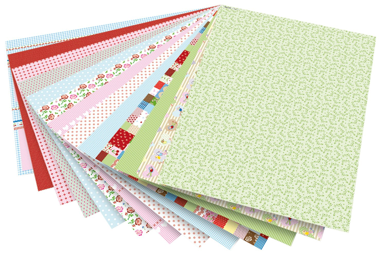 Cartoncino con Fantasie di Mezza Estate Mittsommerland Folia 46809 50 x 70 cm 13 Fogli Assortiti