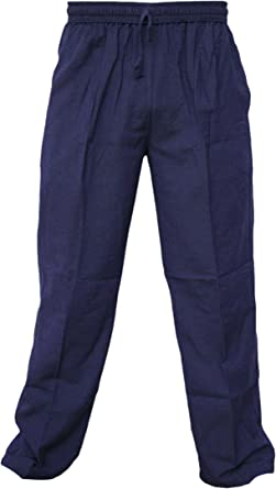 Little Kathmandu Pantalones de chándal para hombre, cáñamo de ...