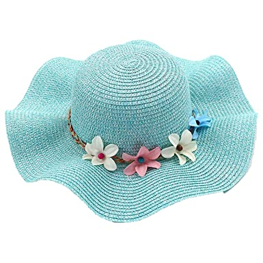 7613cc3cbd5 Image Unavailable. Image not available for. Color  Lady Flower Hat Outdoor  Children s Sun ...