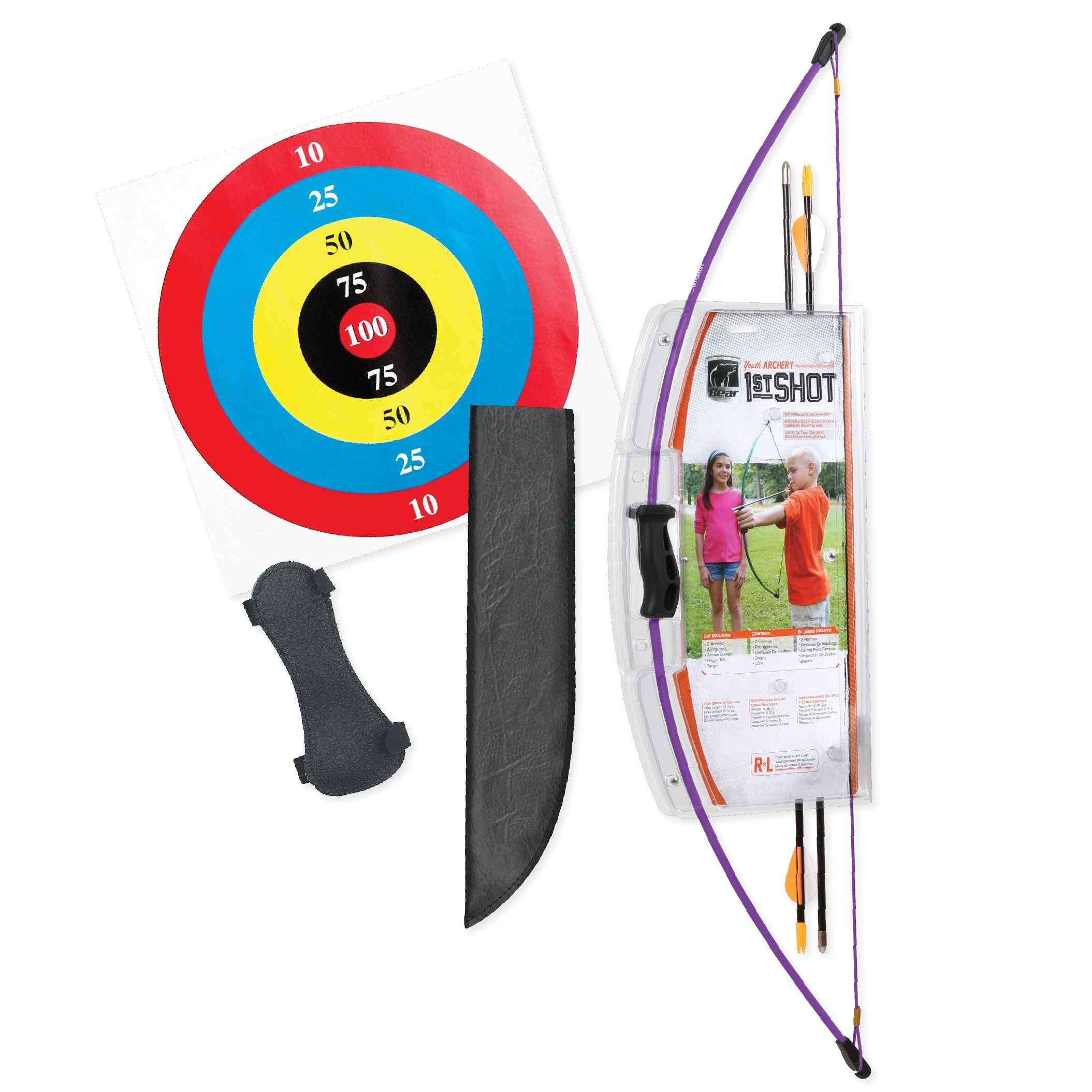 Bear Archery 1st Shot Youth Bow Set - Flo Purple by Bear Archery