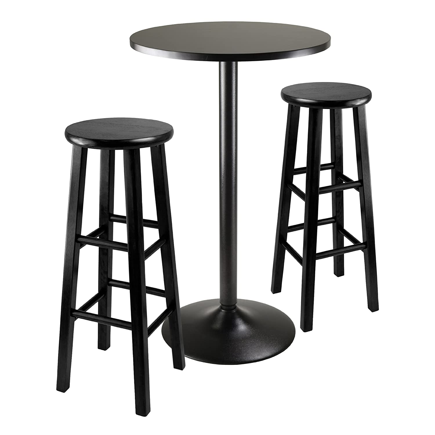 sc 1 st  Amazon.com & Amazon.com: Winsome Obsidian Pub Table Set: Kitchen u0026 Dining