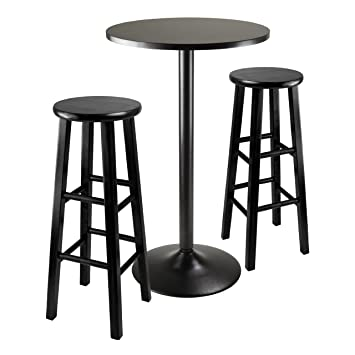 winsome obsidian pub table set 8 chairs ashley furniture urbandale