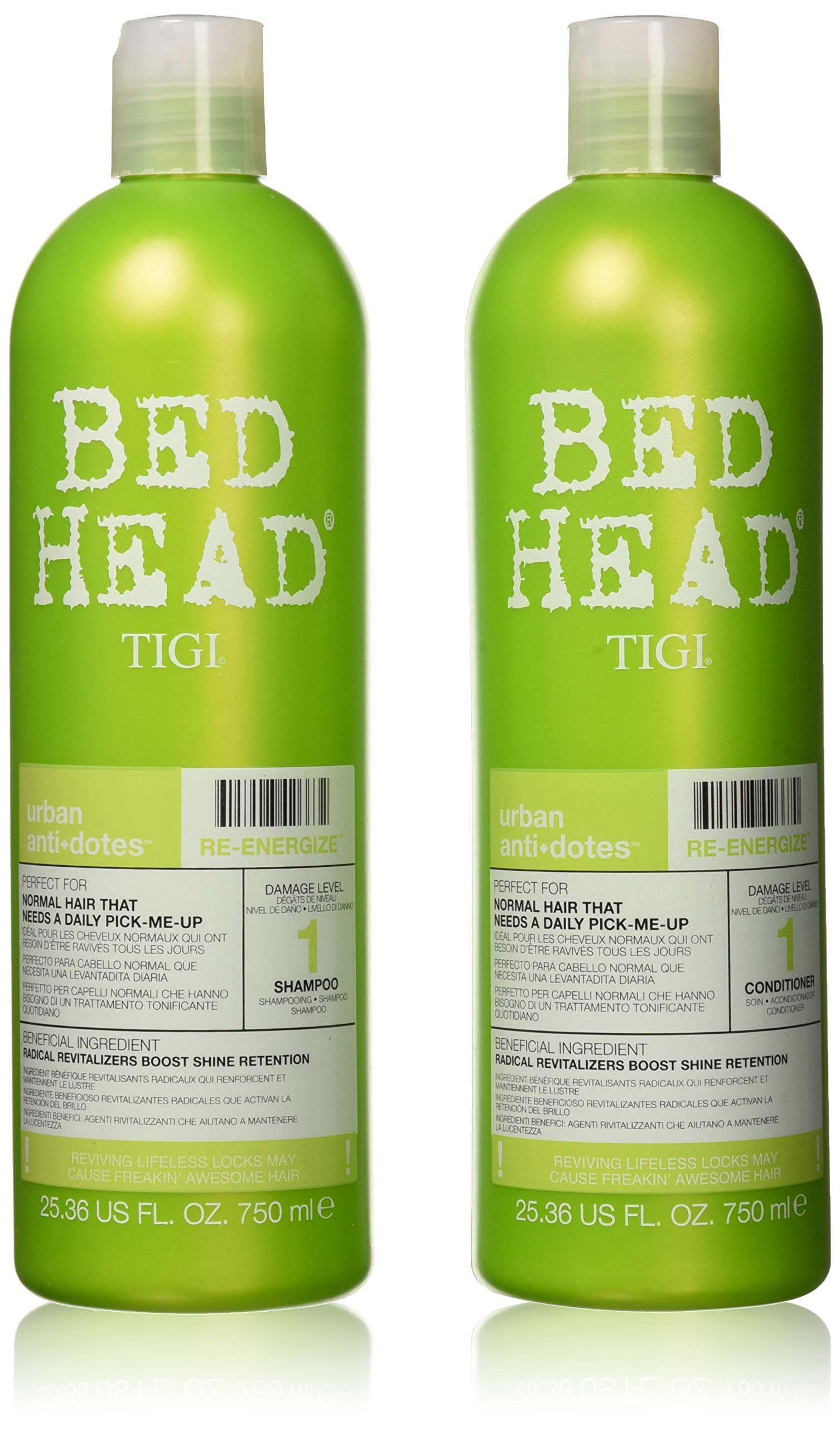 TIGI Bed Head Renergize Shampoo and Conditioner Duo, 25.36 oz by TIGI