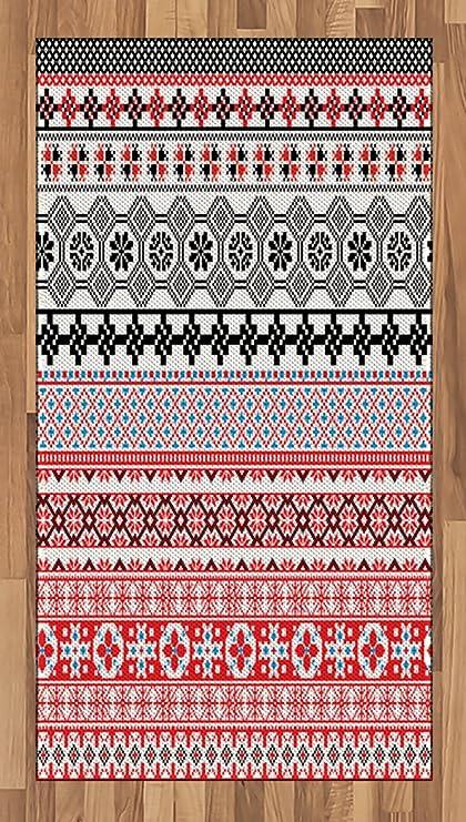 Amazon.com: Ambesonne Ancient Area Rug, Ethnic Aztec Style Pattern ...