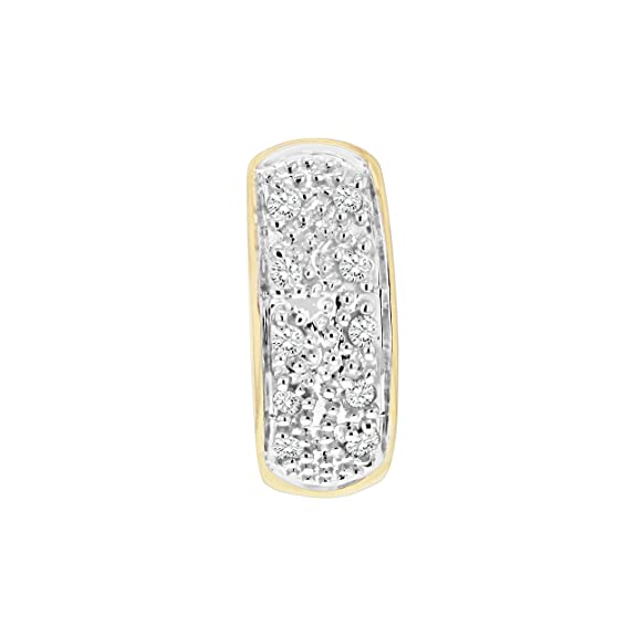 796305b69 Carissima Gold Men's 9 ct Yellow Gold Pave Set Diamond Single Huggy Earring:  Amazon.co.uk: Jewellery