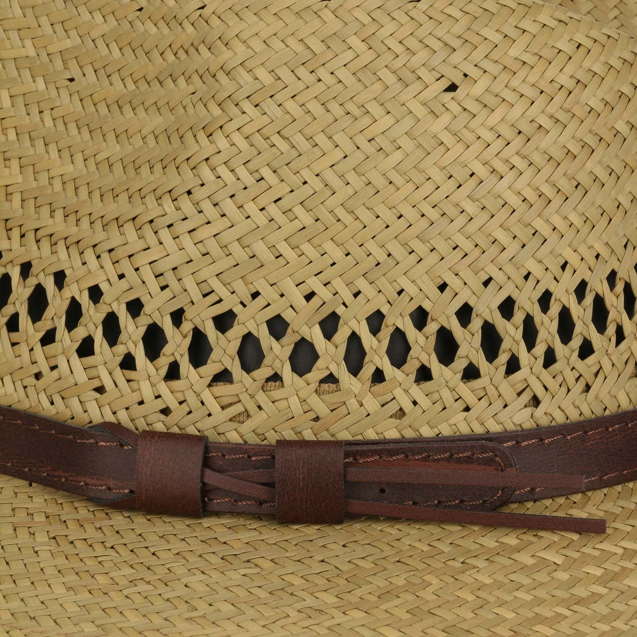 Made in Italy Travellerhut Fr/ühling-Sommer Lipodo Classic Traveller Strohhut mit Lederband Sonnenhut Sommerhut Hut Strandhut Herrenhut Damenhut Damen//Herren