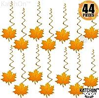 感恩節裝飾懸掛漩渦 – 30 個裝,楓葉秋季主題裝飾用品 | 無需 DIY | 感恩節天花板裝飾 | 秋季裝飾 | 家庭辦公室裝飾