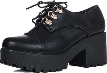 Spylovebuy TIGER Damen Schnür Blockabsatz Stiefeletten Schuhe 3cc5d70a1c