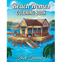 Beach Homes: An Adult Coloring Book with Beautiful