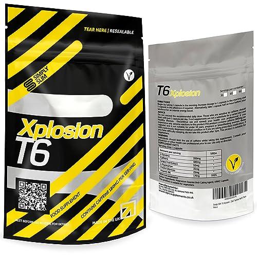 Simply Slim Xplosion T6 Fat Burner   Strong Slimming Pills   Xplosive T6 Fat Burners   Best Weight Loss Pills   Vegetarian Safe T6 Diet Pills   Genuine Weight Loss Tablets