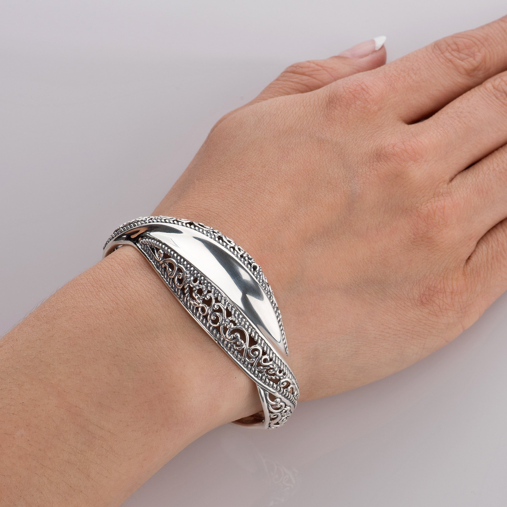 Carolyn Pollack Signature Genuine .925 Sterling Silver Wave Cuff Bracelet by Carolyn Pollack (Image #3)