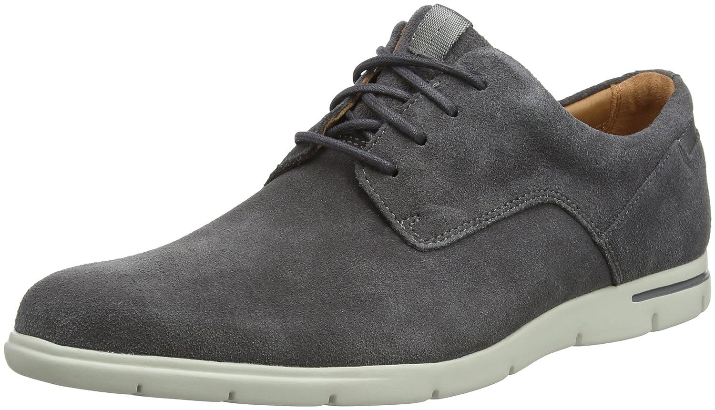 Clarks Vennor Walk, Zapatos de Cordones Derby para Hombre 45 EU|Gris (Grey Suede)