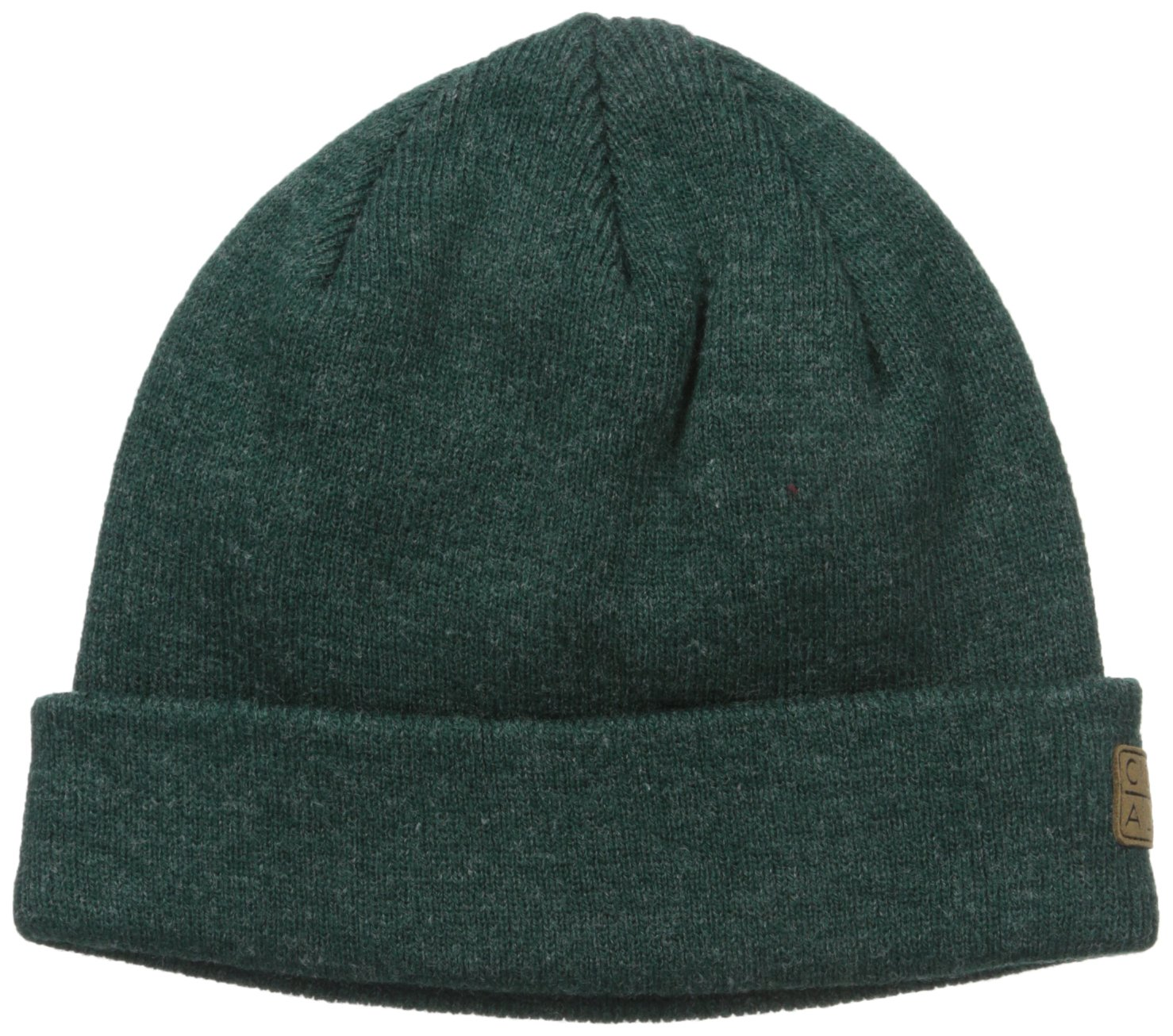 Coal Men's The Harbor Classic Fine Knit Cuffed Beanie Hat, Heather Forest Green, One Size