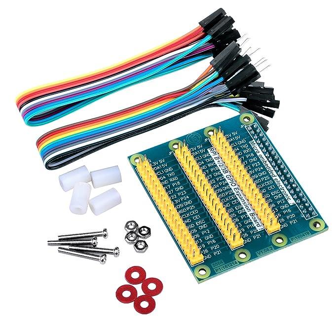 Amazon.com: Quimat GPIO Expansion Board For Raspberry Pi/3/2/1 Model ...