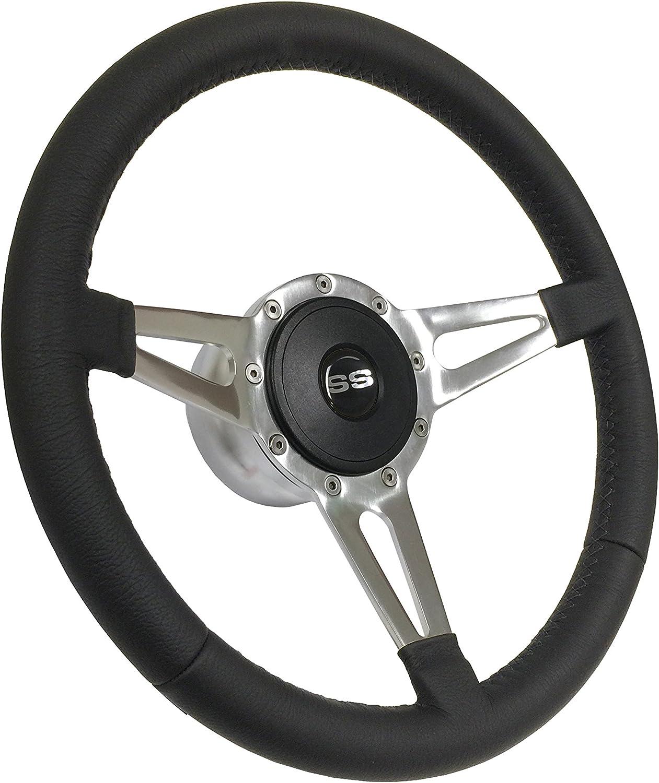 Vintage Red Chevrolet IMPALA Steering Wheel Black Leather Chevy Keyring