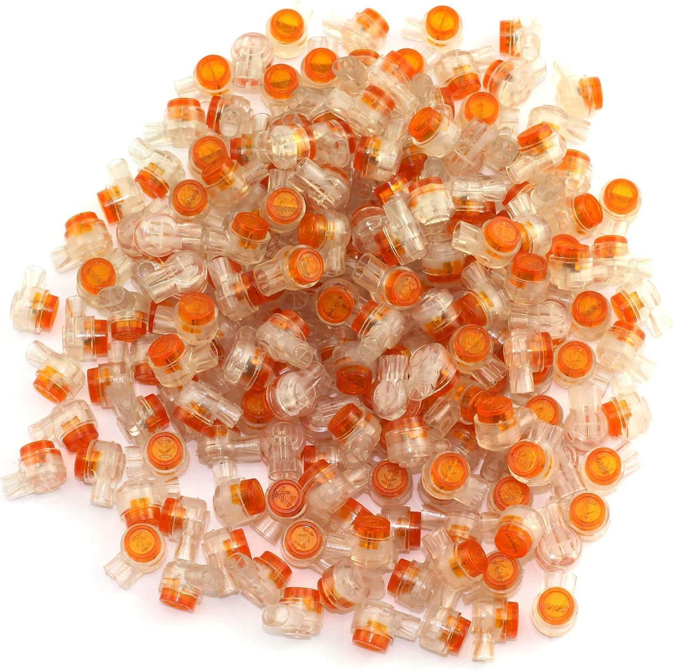 200 Stücke Kunststoff K1 2 Ports Gel Splice UY Kabelverbinder klar orange P ML