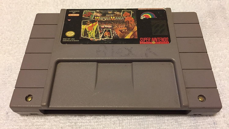 Amazon Com Wwf Super Wrestlemania Super Nintendo Snes Video Game Cartridge Video Games