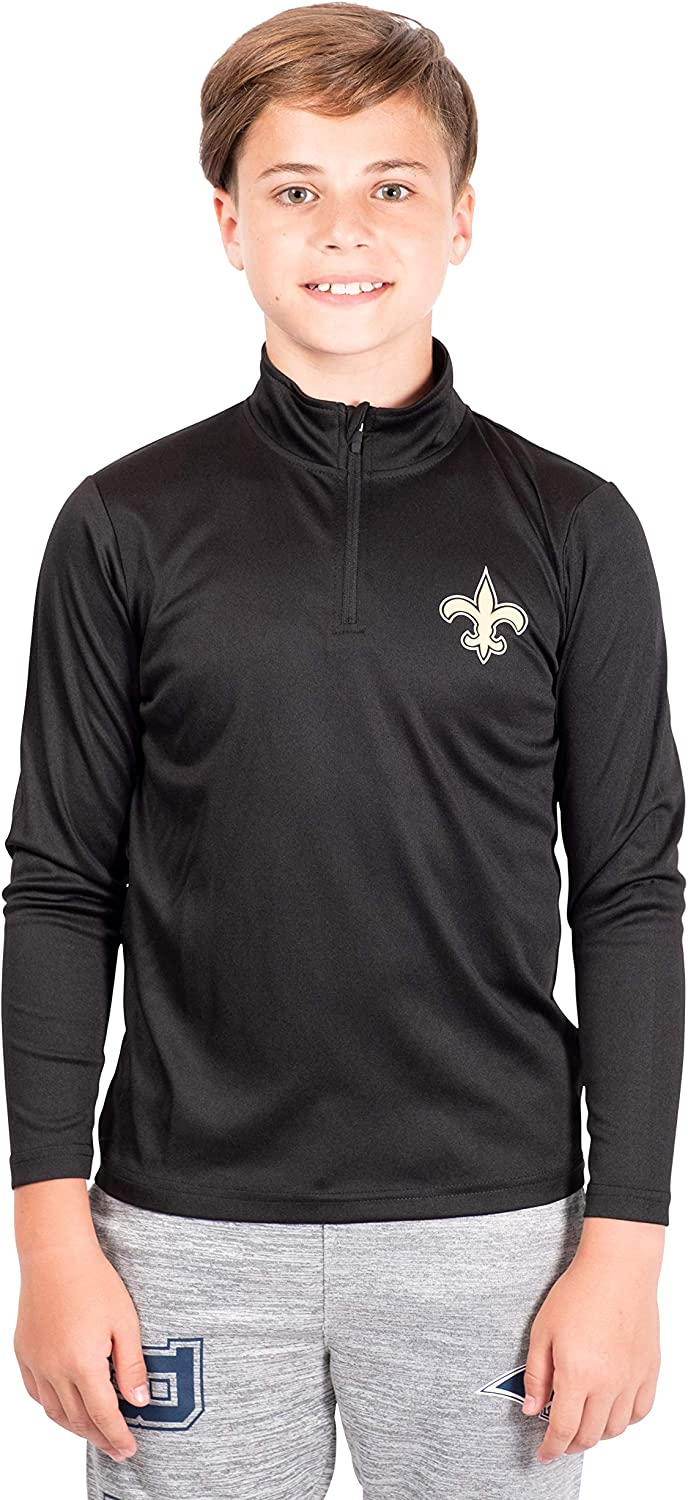 Ultra Game Boys' Quarter-Zip Active Pullover Shirt