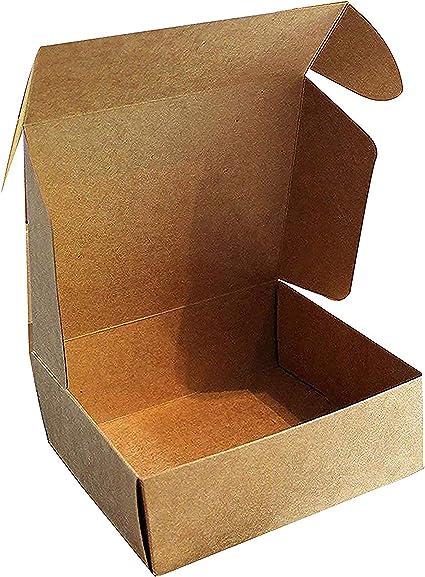 Kraft Cajas de Regalo (Pack de 10) - 13x12x5cm Marrón Kraft Papel Cajas de Regalo Autoensamblables para Presentación Regalo, Fiestas, Bodas, Galletas y Joyas: Amazon.es: Oficina y papelería